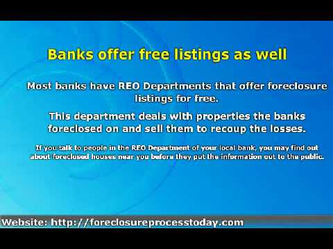 Where Can You Find Foreclosure Listings For Free?