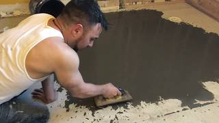 How to level a floor with easy level underlayment self leveling mix 1 - 2