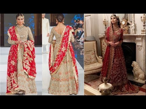 Heavy Zadosi Work Bridal Dress Designs 2018