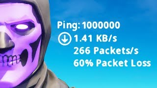fortnite on 1000000 ping