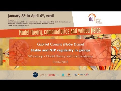 Stable and NIP regularity in groups - G. Conant - Workshop 1 - CEB T1 2018