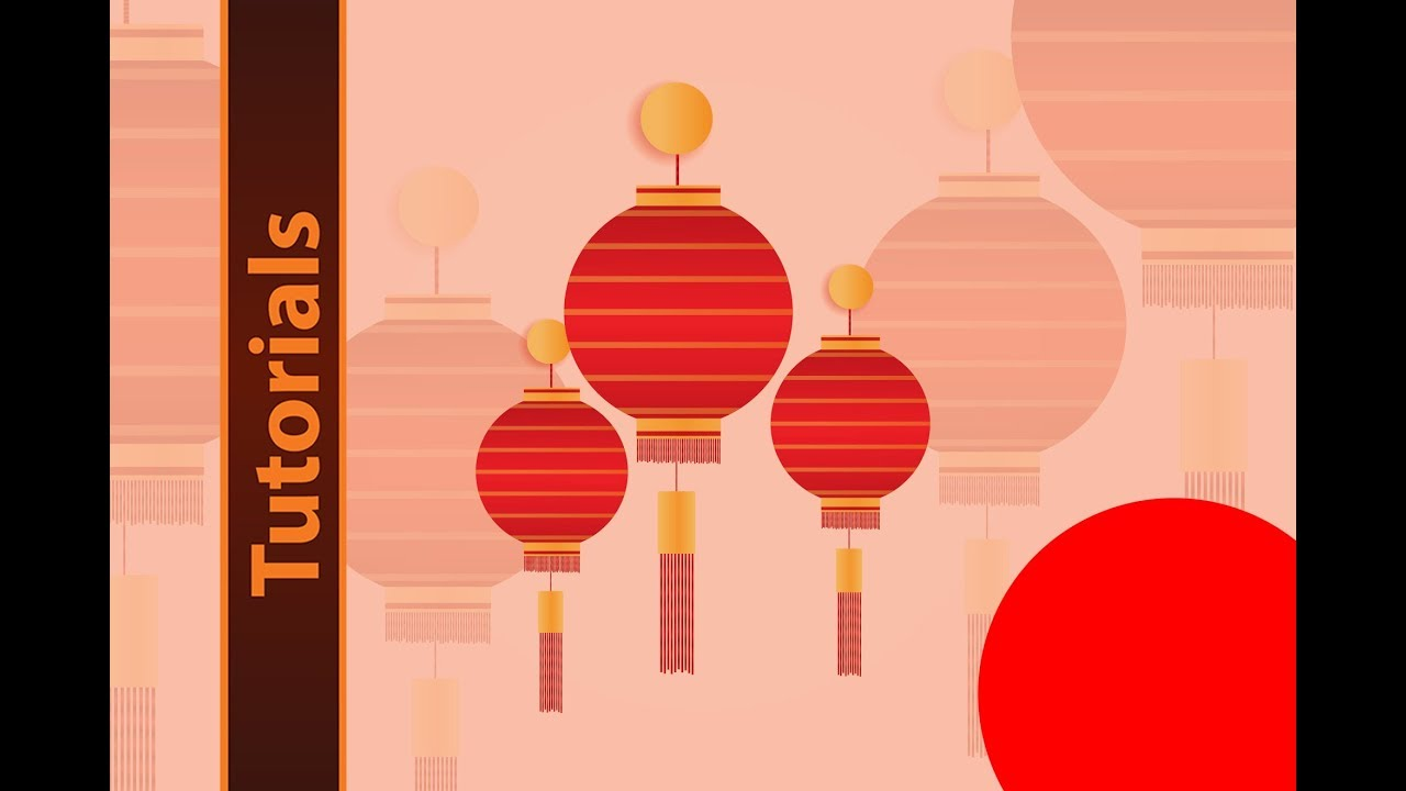 how to design round lanterns in illustrator for chinese new year