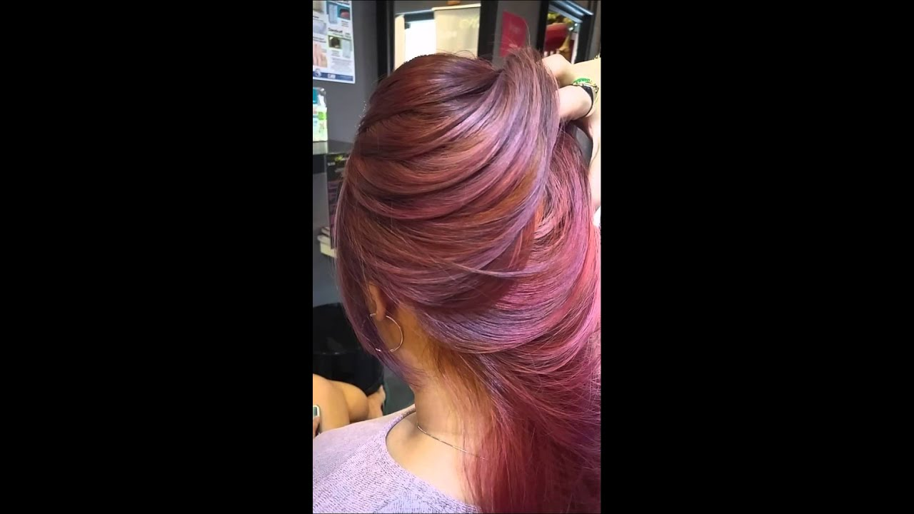 Ash Brown Pink Hair Copper red copper ash ...