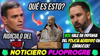 VOX DEFIENDE al POLICÍA AGREDIDO en ZARAGOZA y RIDÍCULO SOCIALISTA con EL BUSTO de RUBALCABA! 🤣