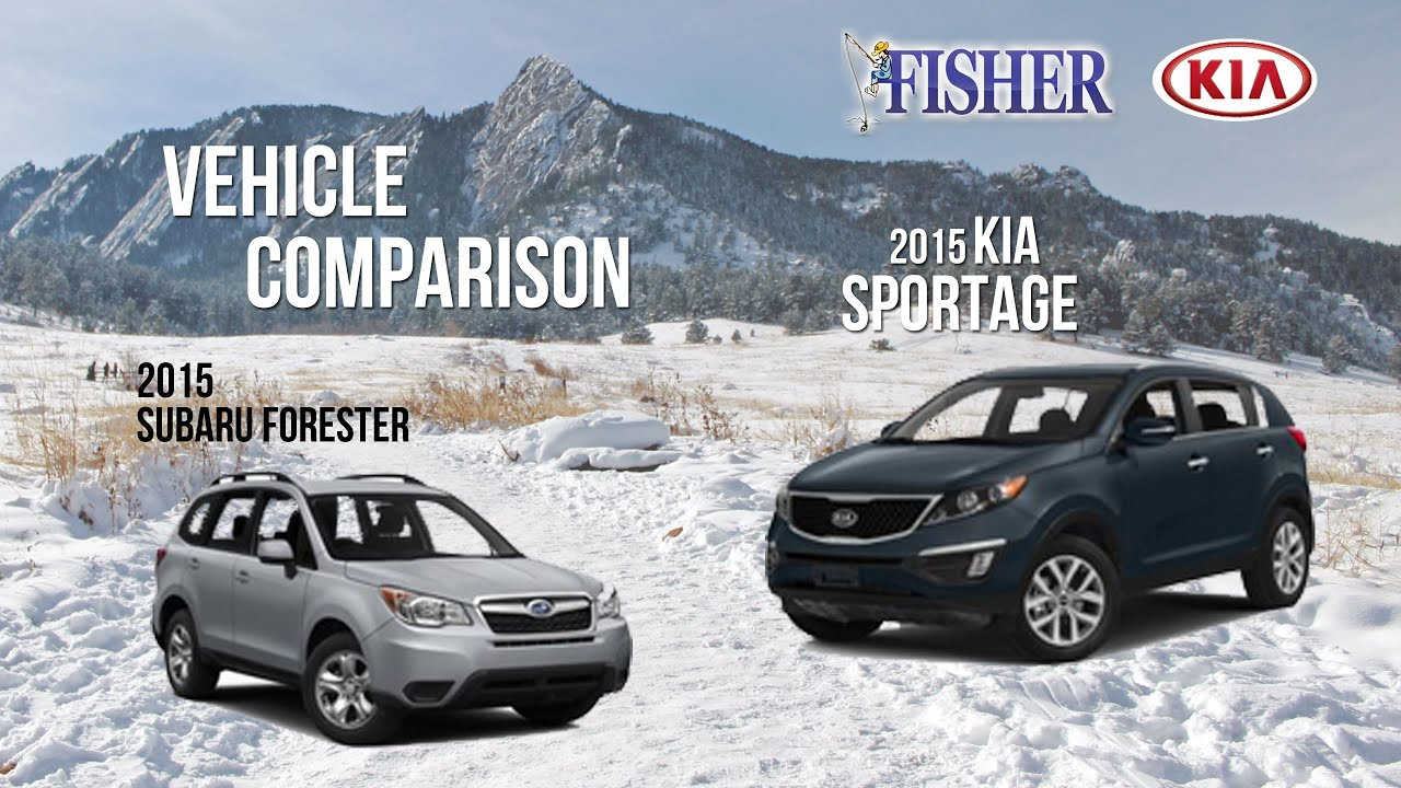 Crosstrek Vs Outback >> Kia Comparison: 2015 Kia Sportage vs. 2015 Subaru Forester - YouTube