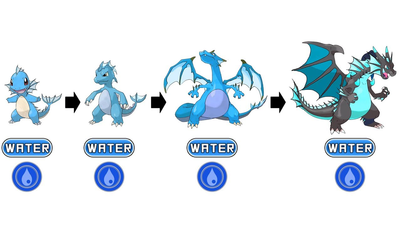 evolve 10 water pokemon