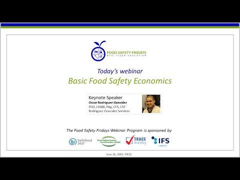 Basic Food Safety Economics