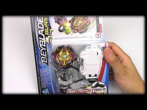 LEGEND SPRYZEN S3 Unboxing Review Battles!! Beyblade Burst Evolution SwitchStrike by Hasbro