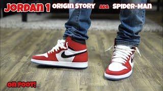 Jordan 1 Origin Story (Spider-Man) On