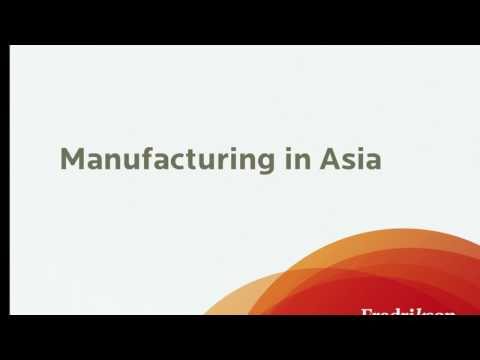 Trends in Global Manufacturing and Supply Chain Management