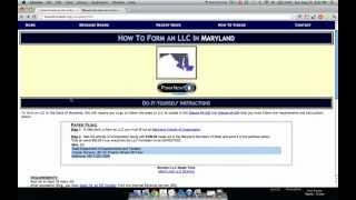 How to Form an LLC in Maryland