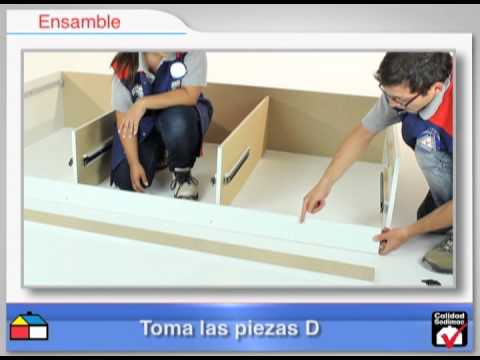 Cama 194X102.4X36.8 Blanco - YouTube