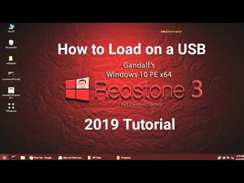 Gandalf Windows 10 PE Bootable USB (Installation Guide) 2019