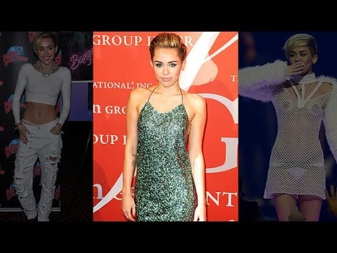 Miley Cyrus Covers Up In A Sparkly Gown Celebrity Style Fashion Flash Youtube