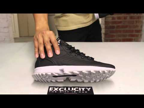 Adidas ZX Flux Winter - Black - White Unboxing Video at Exclucity