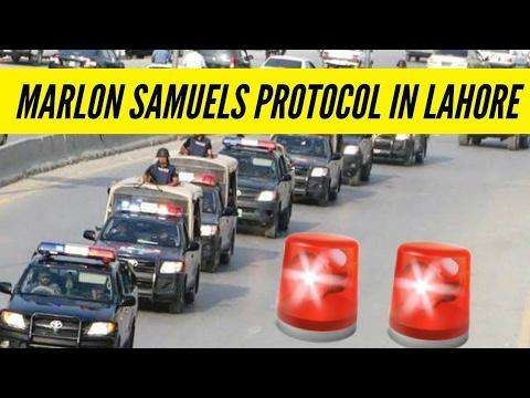 Marlon Samuels Uploaded Protocol video of International Players in Lahore Pakistan - PSL 2017