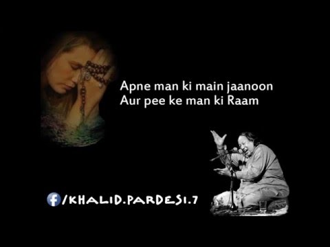 sanson ki mala pe - Nusrat Fateh Ali Khan - HD Video by Khalid Pardesi