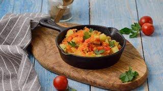 Кабачки с овощами на сковороде кабачки вкусно 1000menu