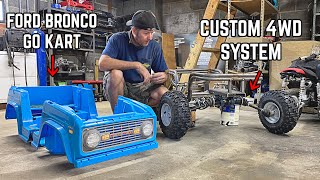 4WD Power Wheels Go Kart Pt. 4 | Building 4X4 Independent Front Suspension