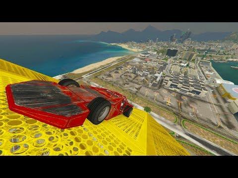 SÚPER MEGA RAMPA INCREIBLE! - CARRERA GTA V ONLINE - GTA 5 ONLINE