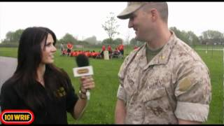 101 WRIF Detroit - Rock Girl Marisa - Marine Corps pre training