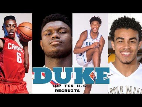Duke Commits 2018   Zion Williamson, RJ Barrett, Cam Reddish, Tre Jones Best Class Ever?