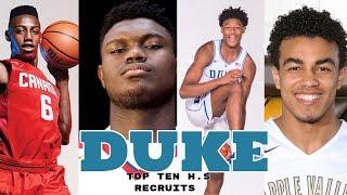 Duke Commits 2018 | Zion Williamson, RJ Barrett, Cam Reddish, Tre Jones Best Class Ever?