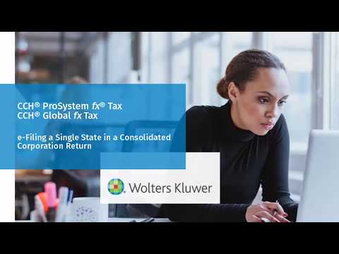 CCH® ProSystem fx® Tax: e-Filing a Single State in a Consolidated Corporation Return