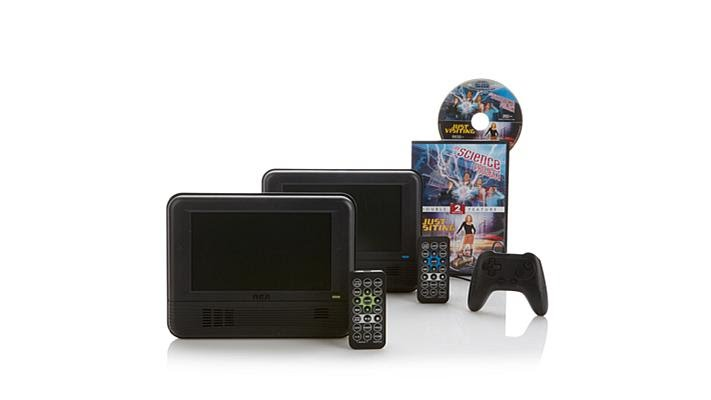 Rca 2pk Portable Dvd Players W Game Controller Movies