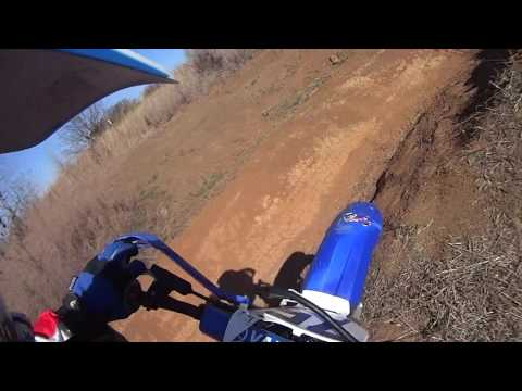 Dirt biking at Perry Lake ATV Area, Perry, Kansas Paul with Posty 2 2017 03 05