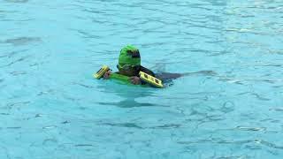 Cherie's 5th swimming lesson