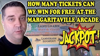We get 5 free plays! How many tickets can we win for free? Arcade Tickets Challenge! Tons of Tickets