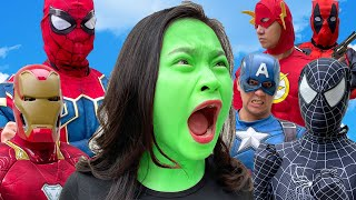 She-Hulk VS Superheroes (Compilation #23p) - GreenHulk vs