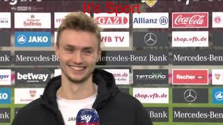 Bundesliga Interview: Sasa Kalajdzic im interview nach dem 2:2 gegen Mönchengladbach