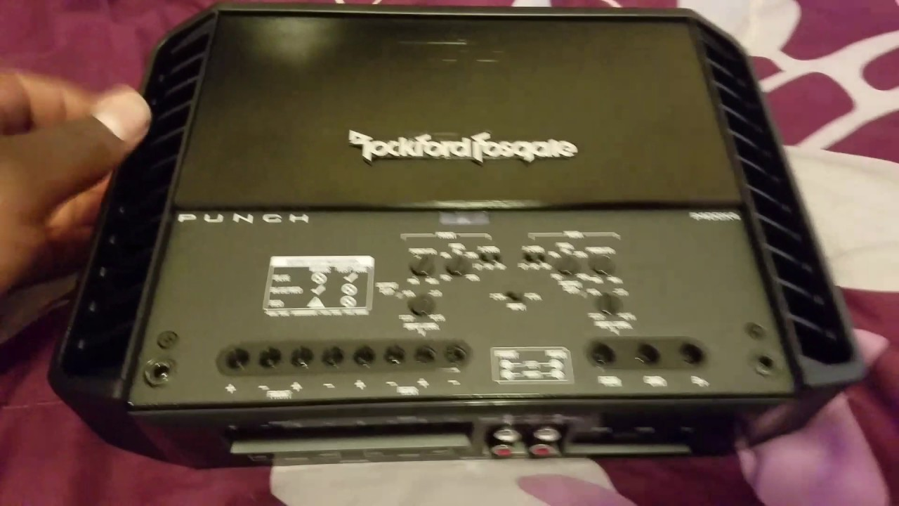 rockford fosgate p400x4 punch 4 channel amplifier [ 1280 x 720 Pixel ]