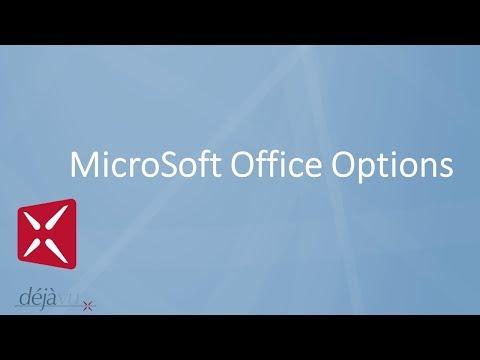 Déjà Vu X2 - MicroSoft Office Options