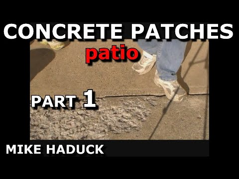 How I patch concrete sidewalks and patios,Mike Haduck