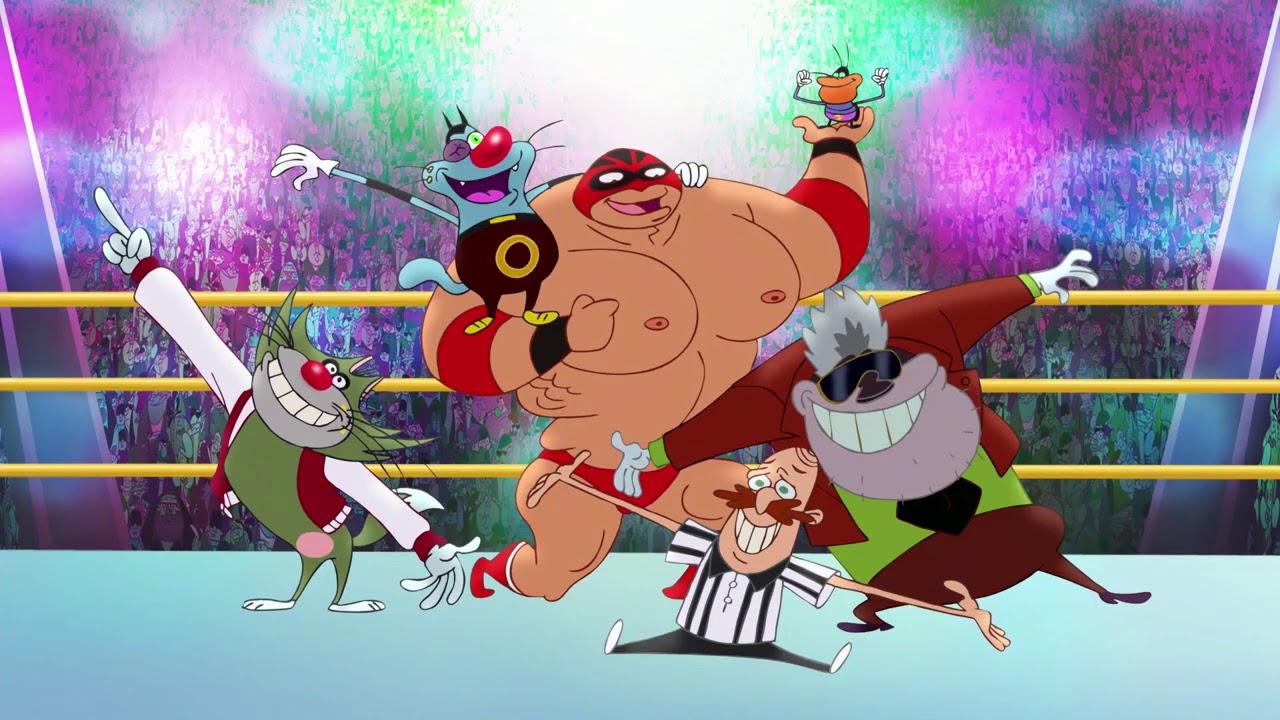 Oggy und die Kakerlaken 💪 Wrestling-Champion 💪 Volledige aflevering in HD
