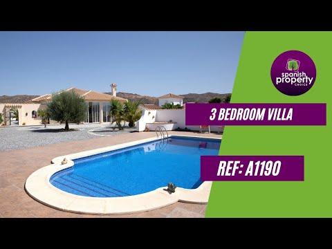Spanish Property Choice Video Property Tour - Villa A1190 Albox, Almeria, Spain. 329,950€