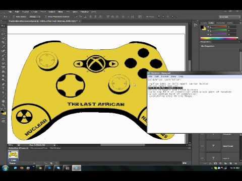 my custom xbox 360 controller template using adobe photoshop cs6