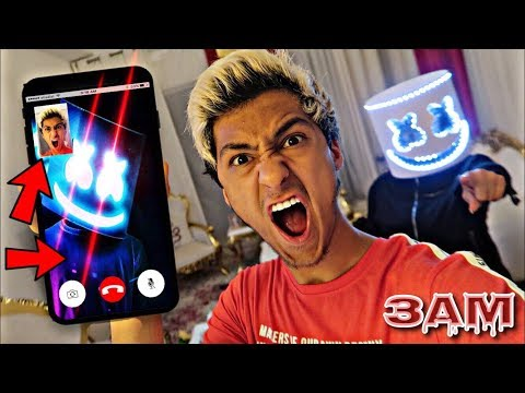 DO NOT FACETIME MARSHMELLO AT 3AM!! *OMG HE ACTUALLY CAME TO MY HOUSE*