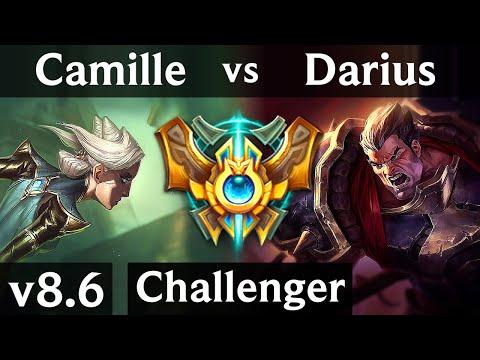 CAMILLE vs DARIUS (TOP) /// Korea Challenger /// Patch 8.6