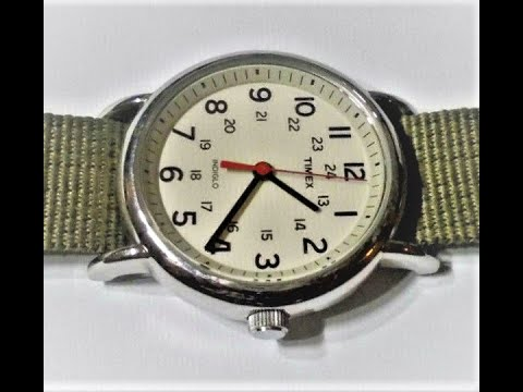 Review Men's  Timex Weekender 38mm Watch T2N651 /  How To Clean Canvas Watch Straps  T2N6519J Green