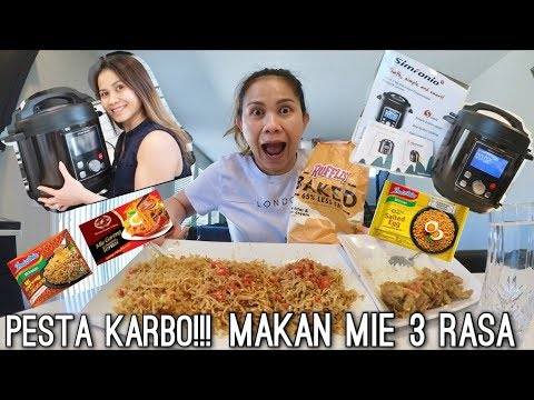 MAKAN MIE 3 RASA! | BEST AFFORDABLE PRESSURE COOKER! 10 IN 1 SIMPOT BY SIMFONIO REVIEW (4 MINUTES!)