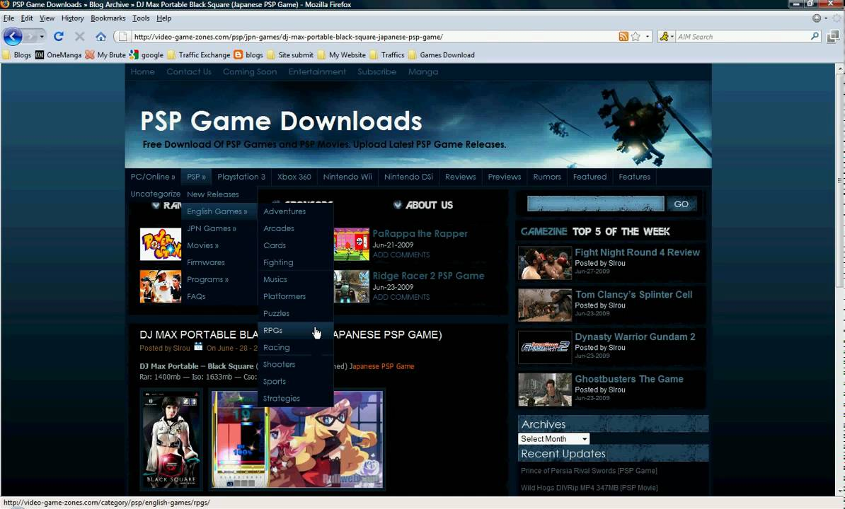 download free mp4 movies for psp