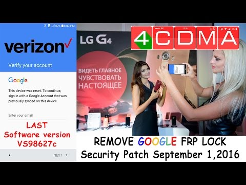 LAST UPDATE!! LG G4 Verizon FRP Google Account Bypass  Security