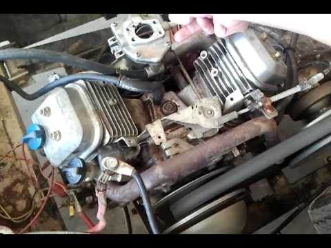 16HP Briggs & Stratton Vanguard VTWIN, bad carb  YouTube