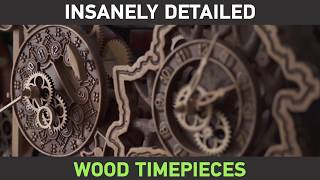 Put your Apple Watch down and enjoy these insanely detailed wood timepieces