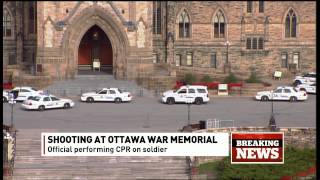 Breaking news on CBC News Network: Shooting in Ottawa (2014)