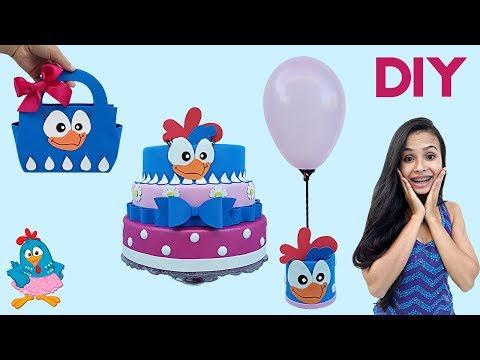 DIY Ideias Para Festa de Aniversário | Tema Galinha Pintadinha